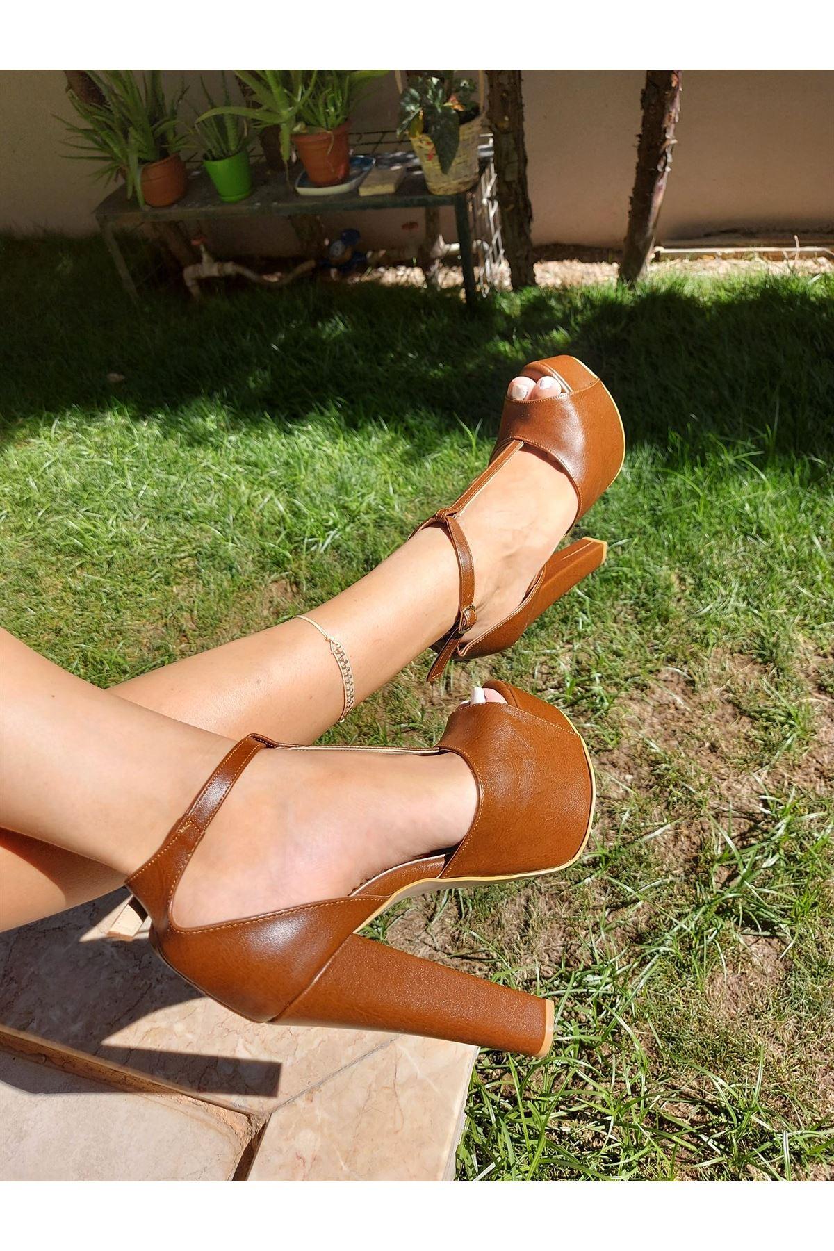Joyce Taba Cilt Yüksek Topuklu Ayakkabı