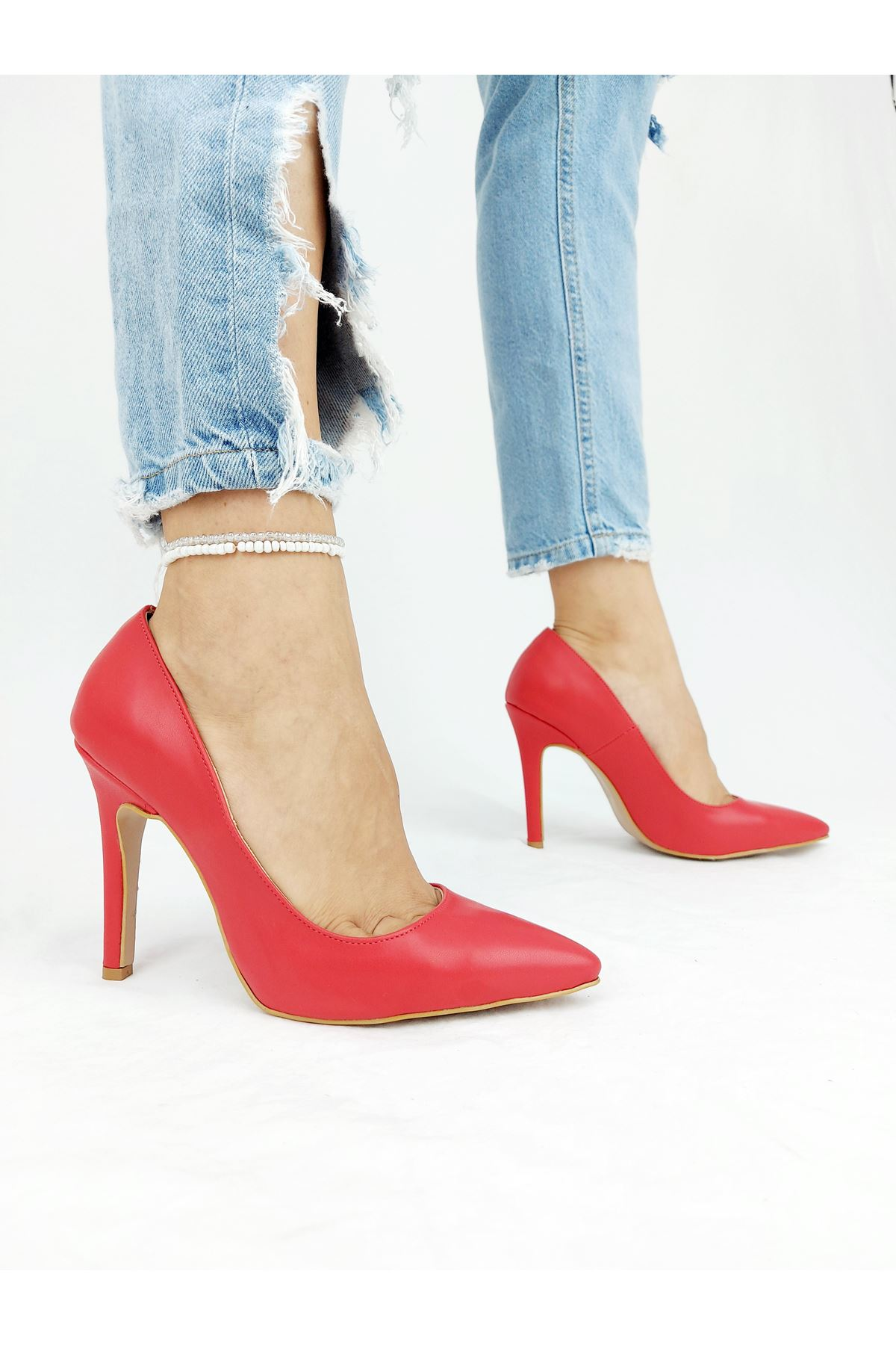 Tokyo Kırmızı Cilt Stiletto