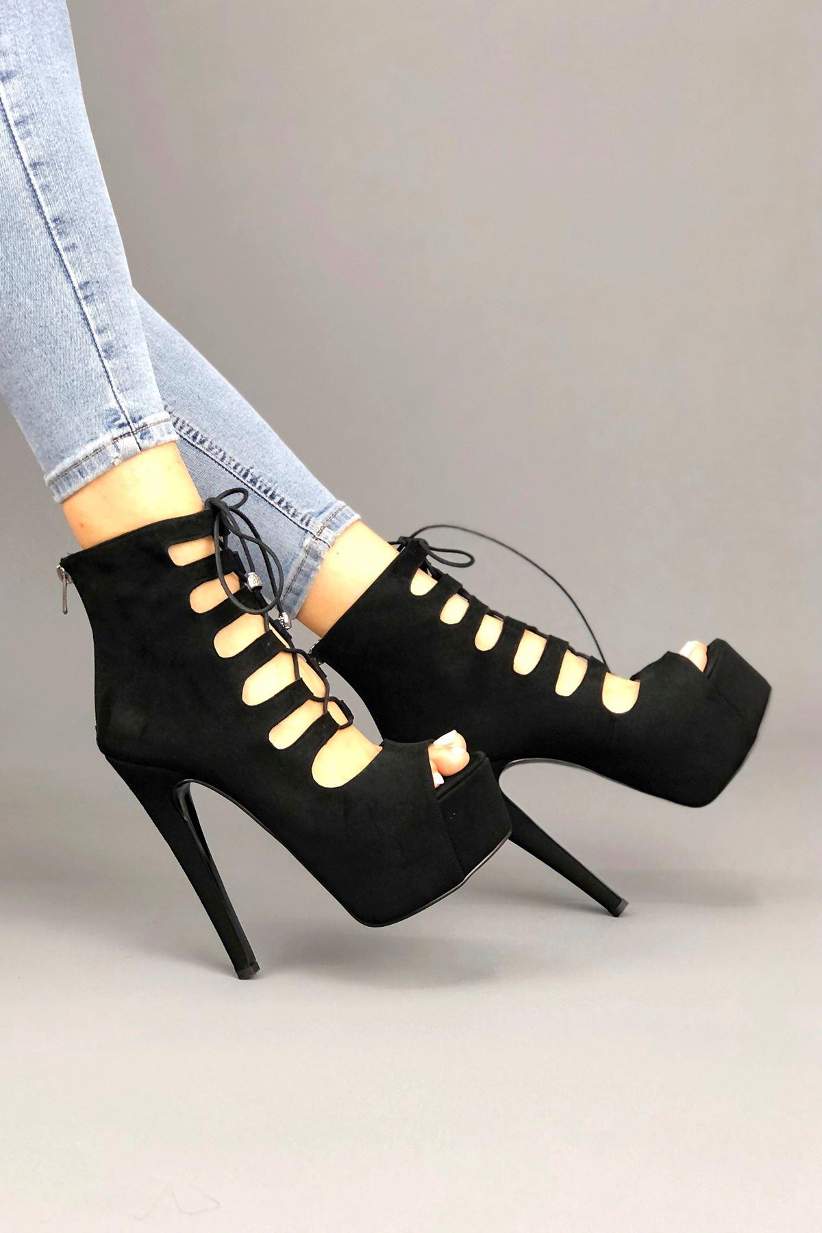 Prada Siyah Süet Kadın Ayakkabı