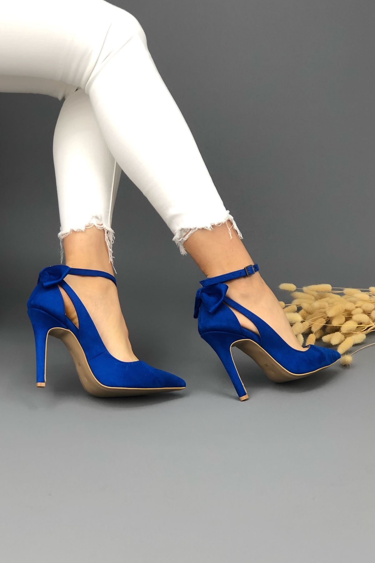 Luther Papyonlu Sax Mavi Kadın Ayakkabı