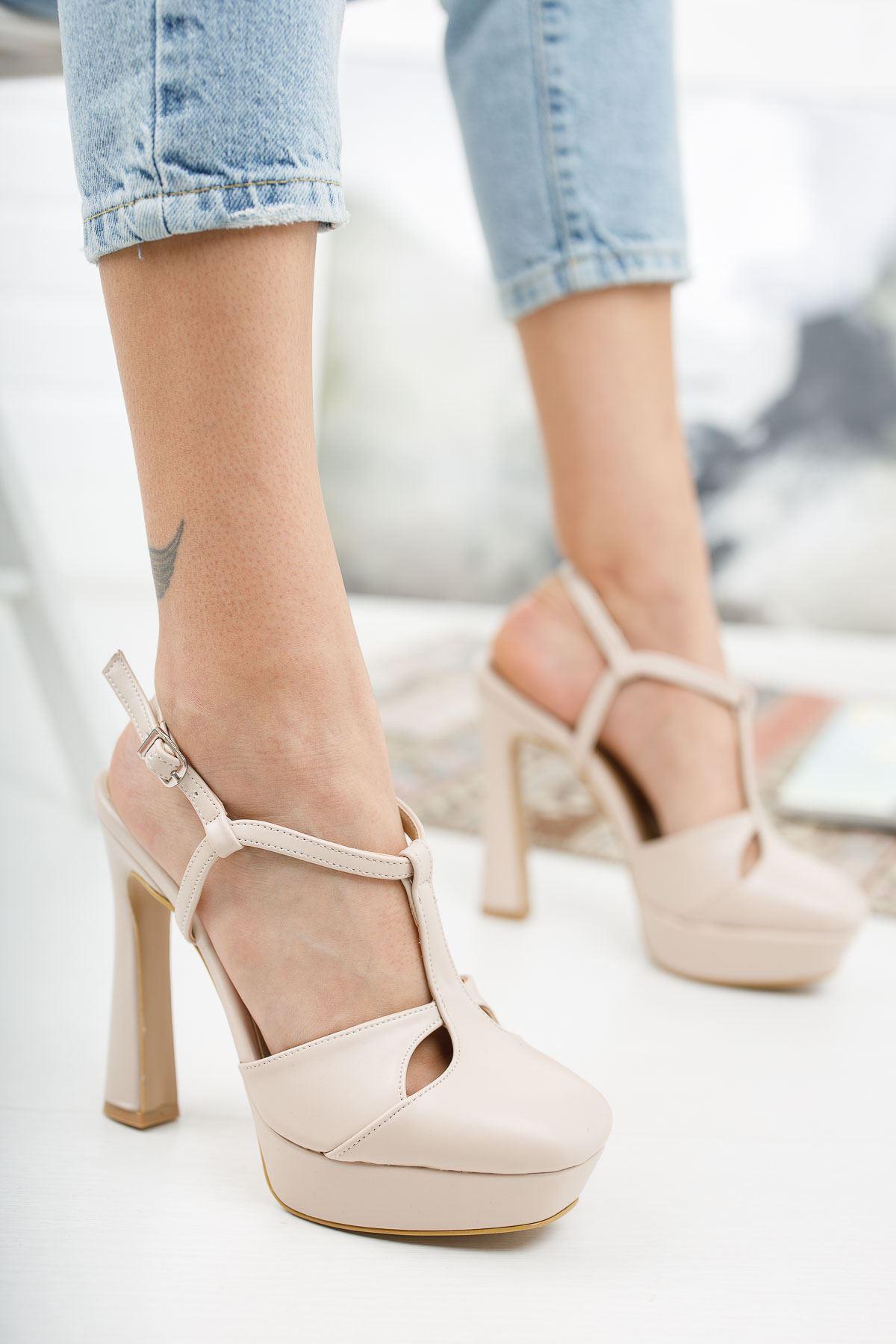 Orfila Ten Cilt Topuklu Ayakkabı