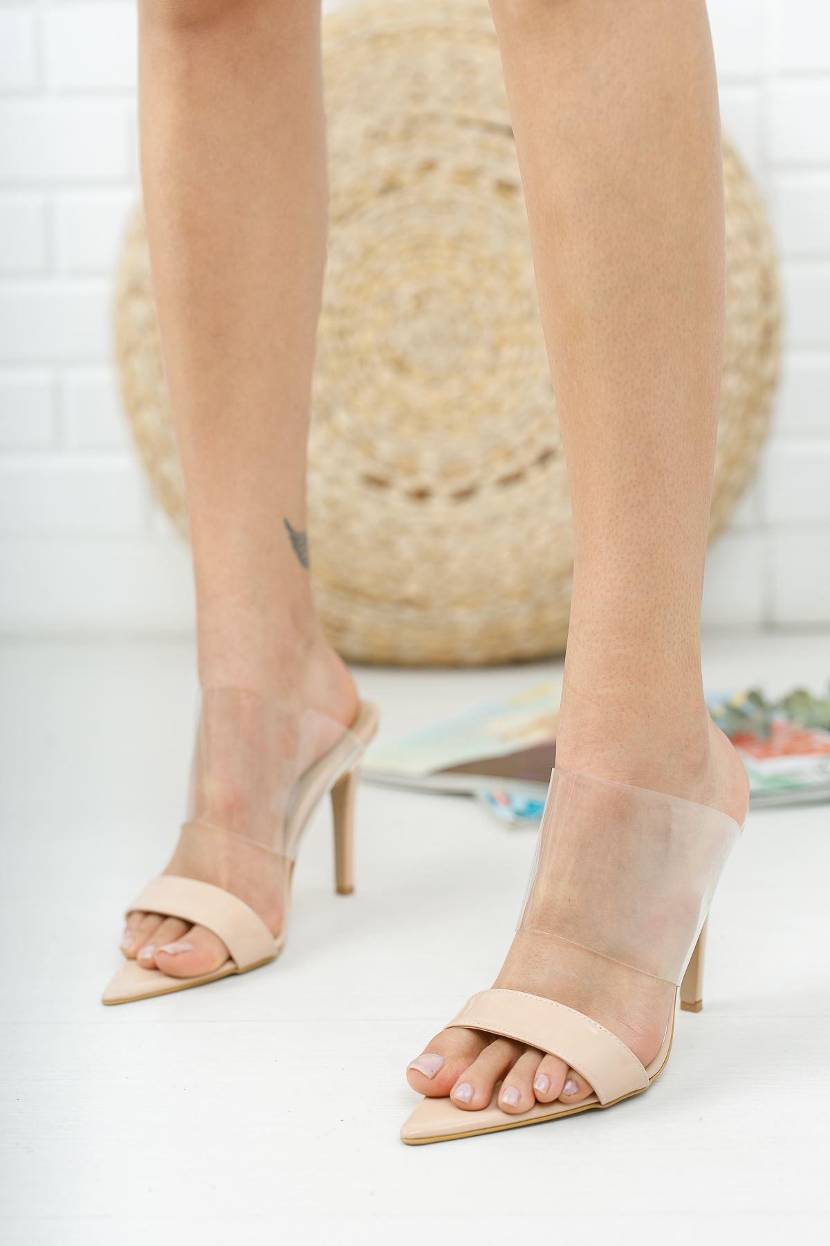 Pooly Ten Rugan Şeffaflı Topuklu Ayakkabı