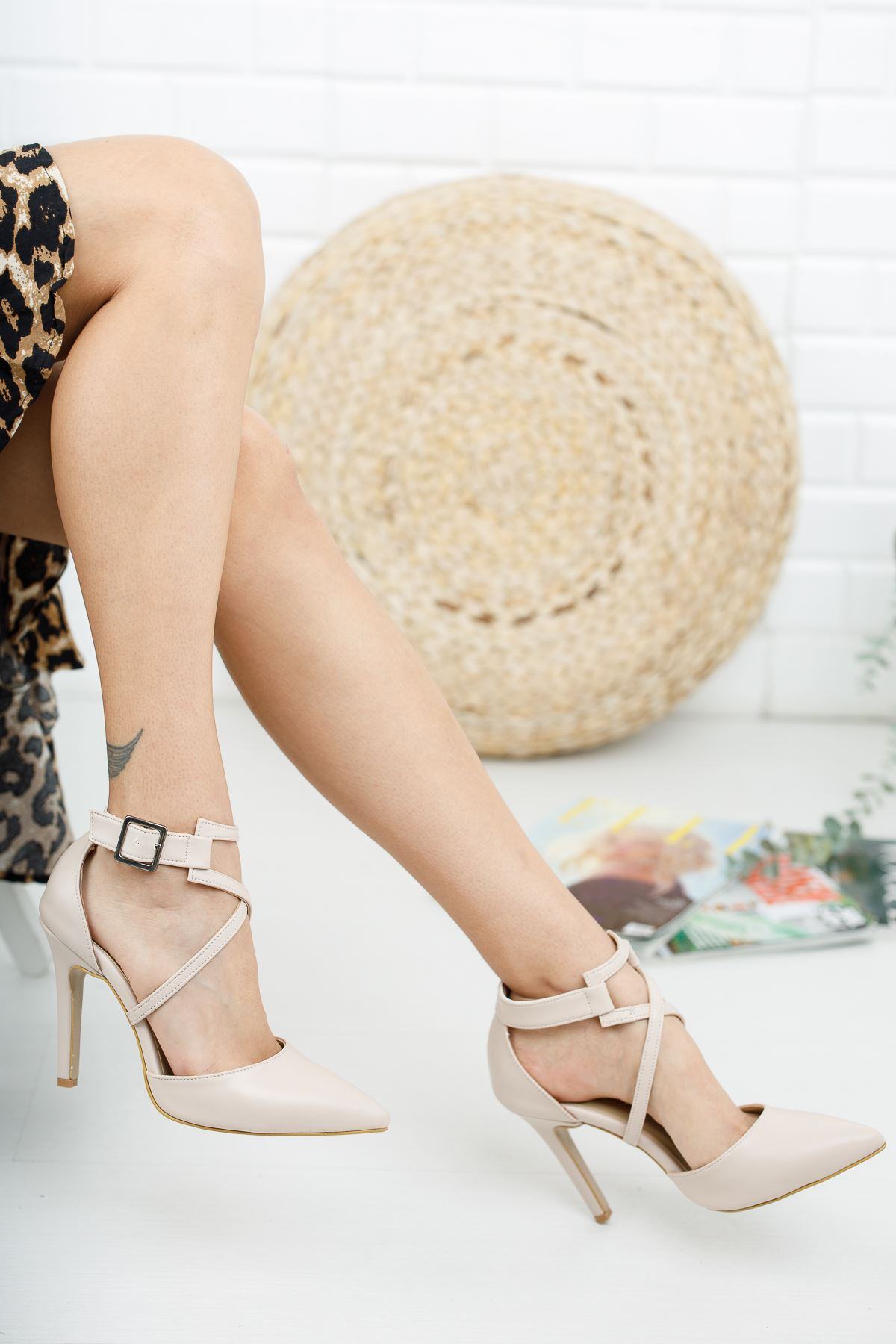 Edrie Ten Cilt Topuklu Ayakkabı Stiletto
