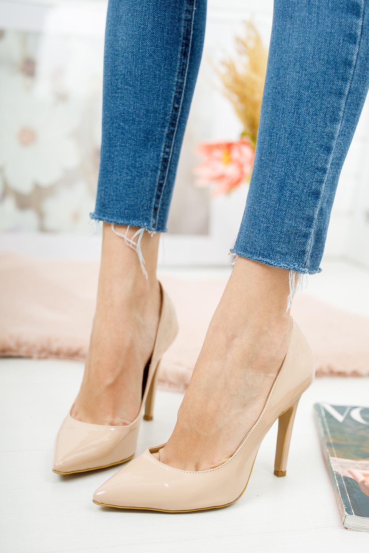 Tokyo Nude Rugan Kadın Topuklu Ayakkabı Stiletto