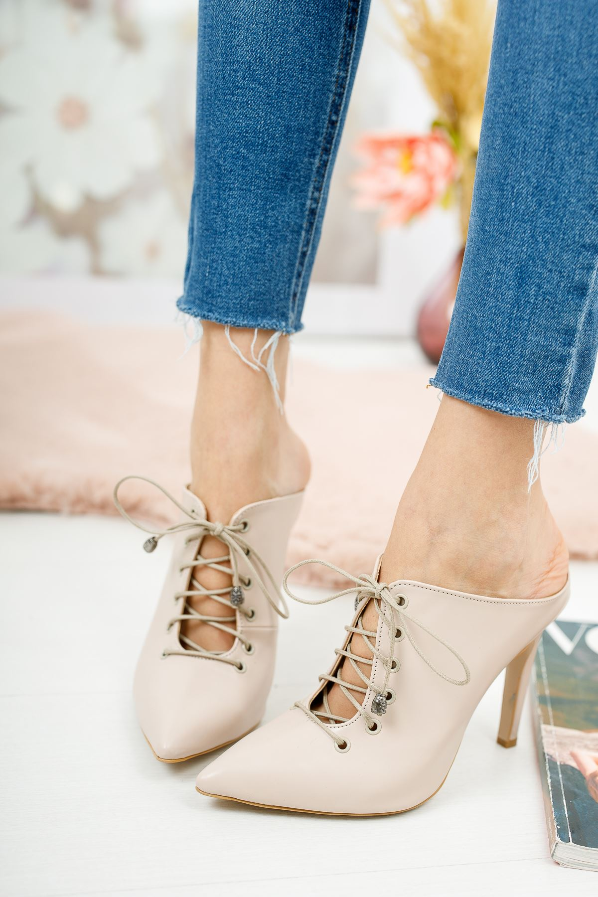 Marina Nude Cilt Topuklu Ayakkabı Stiletto
