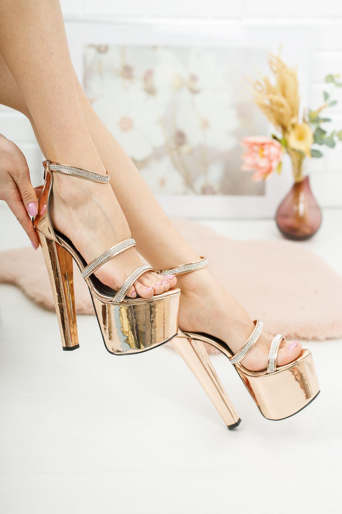 Gieda Rosa Ayna Kadın Yüksek Topuklu Ayakkabı