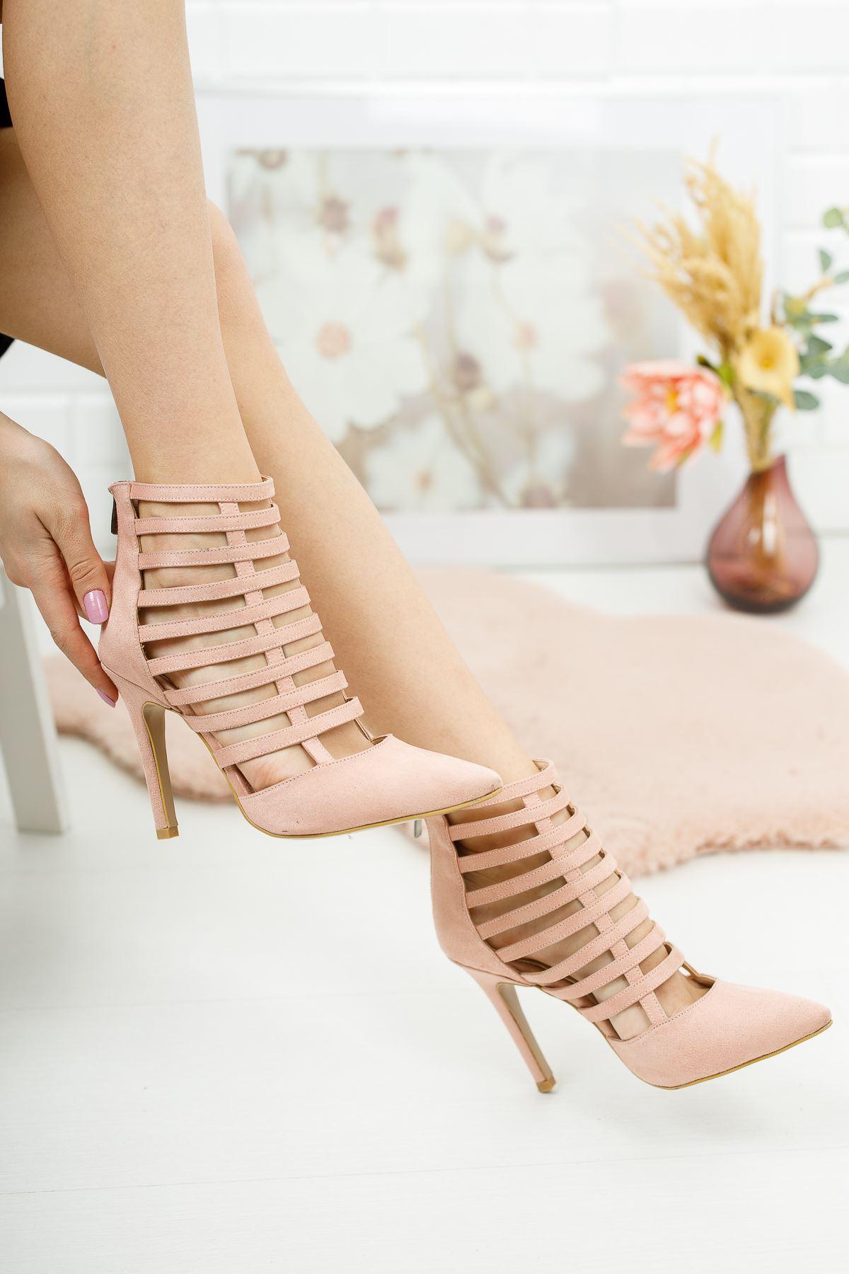 Edgar Pudra Süet Kadın Topuklu Ayakkabı