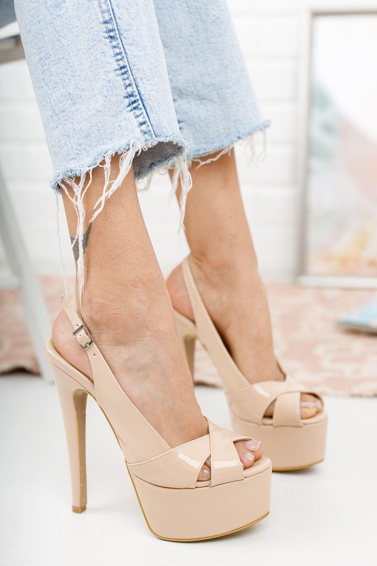 Acero Nude Rugan Yüksek Topuklu Kadın Ayakkabı