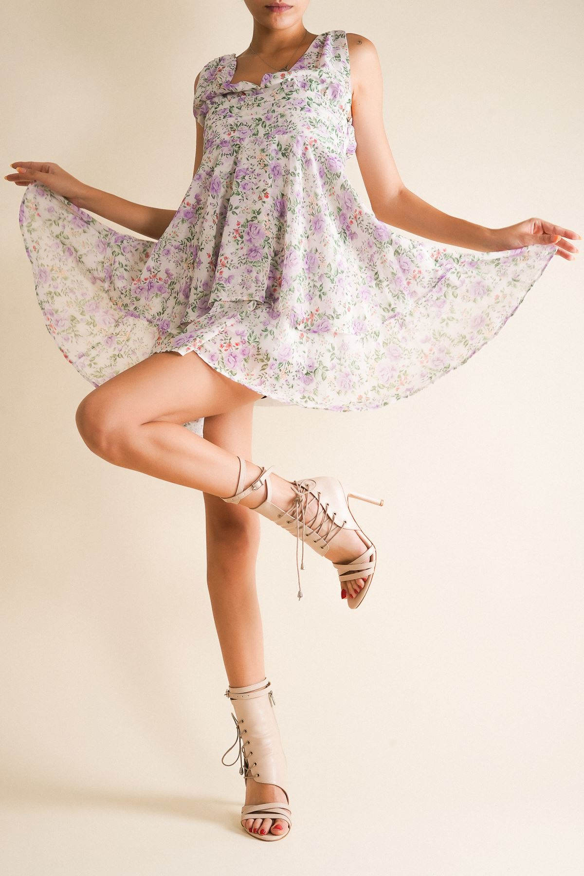 Galya Nude Cilt Kadın Topuklu Ayakkabı