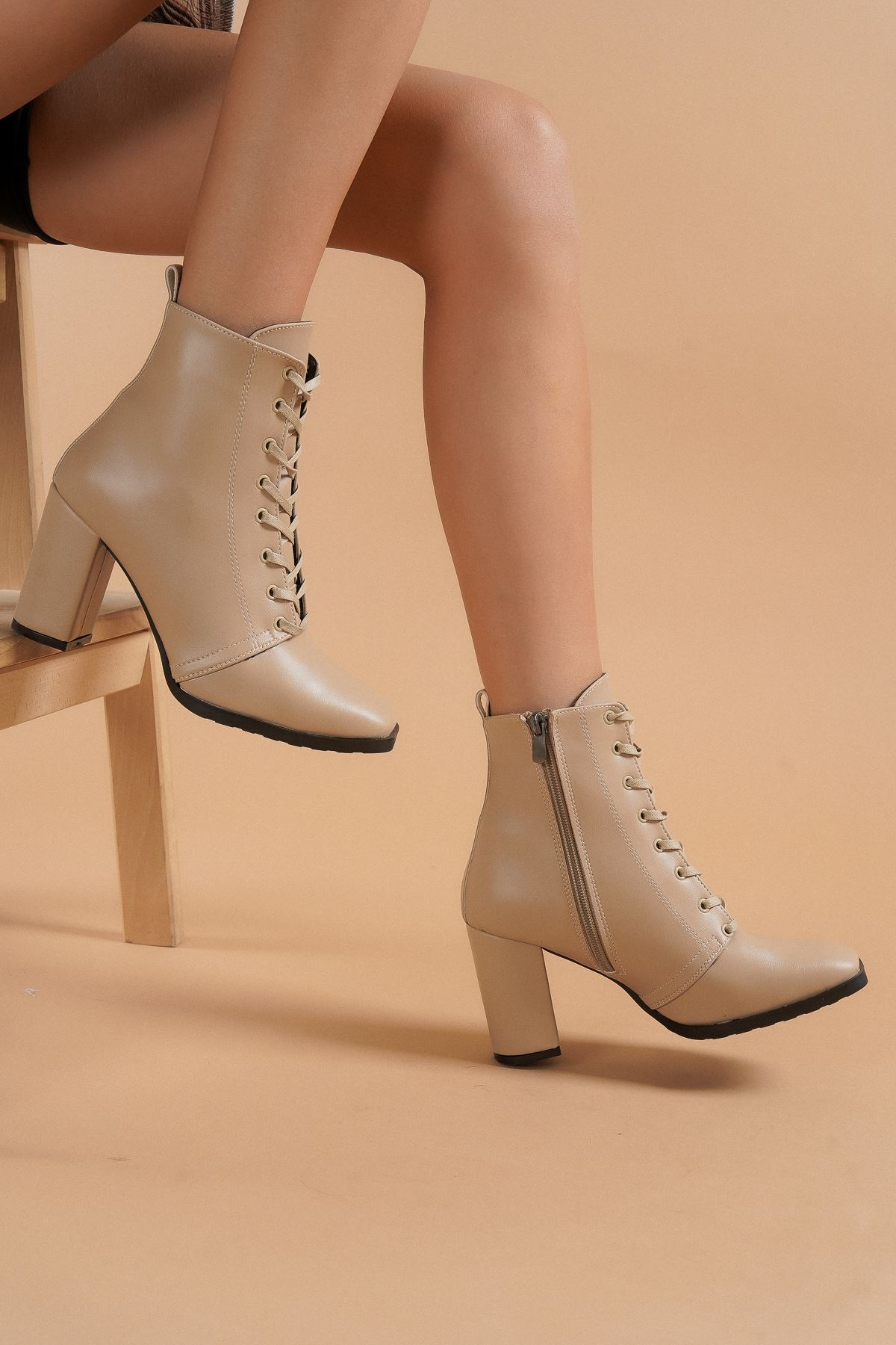 Audrey Ten Cilt Topuklu Kadın Bot