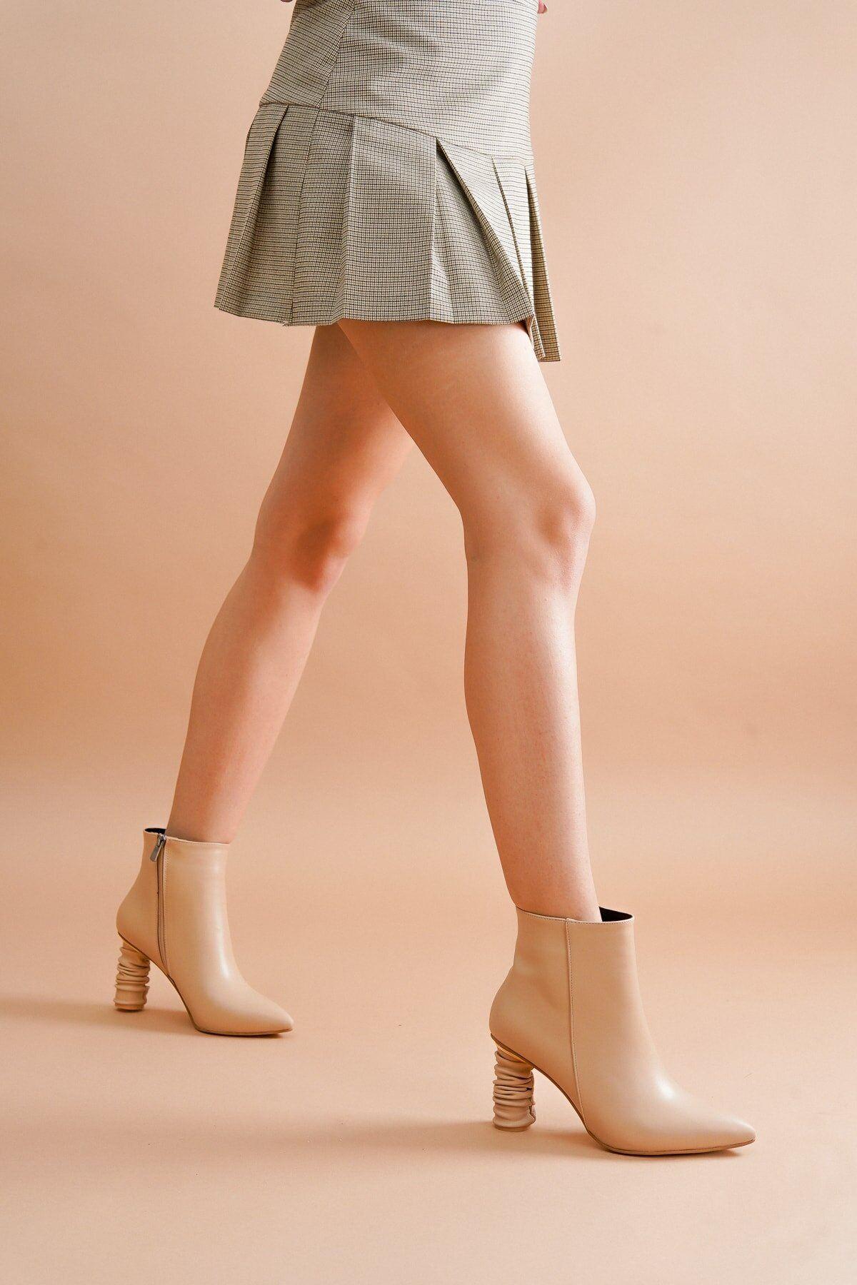Adda Ten Cilt Topuklu Kadın Bot
