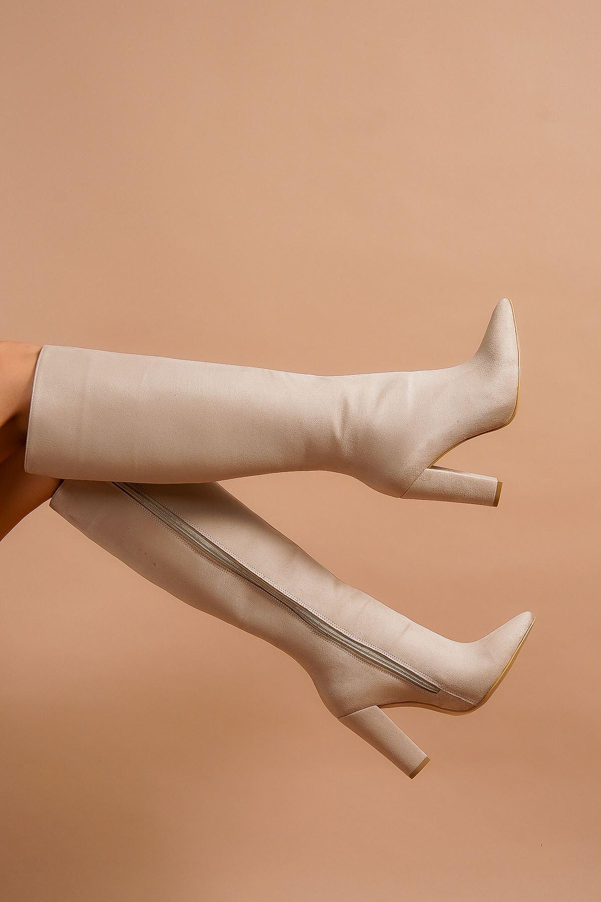 Andros Ten Süet Kadın Çizme