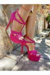 Chloe Fuşya Süet Yüksek Topuklu Ayakkabı